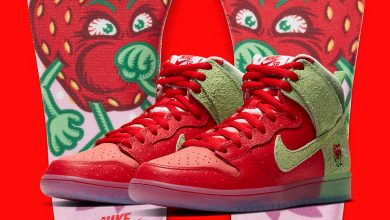 """Photo of Nike SB Dunk High """"Strawberry Cough"""" CW7093-600"""