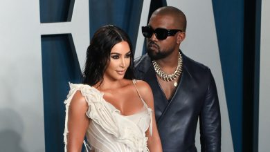 """Photo of Kanye Set On Fire in Dramatic """"DONDA' Finale, Brings Kim Out in a Wedding Dress"""